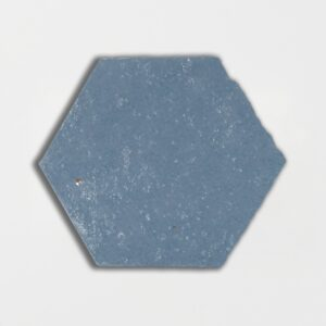 Peggy Blue Glazed Hexagon Terracotta Tiles 6x6