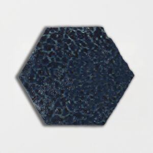 Pickford Blue Glazed Hexagon Terracotta Tiles 6x6