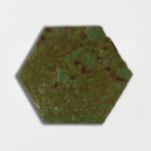 Tefusee Green Glazed Hexagon Terracotta Tiles 6x6