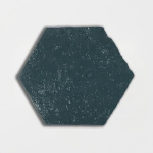 Furstenburg Teal Glazed Hexagon Terracotta Tiles 6x6