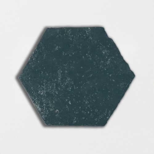 Furstenburg Teal Glazed Hexagon Terracotta Tiles 6×6