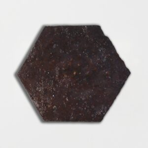 Losada Brown Glazed Hexagon Terracotta Tiles 6x6