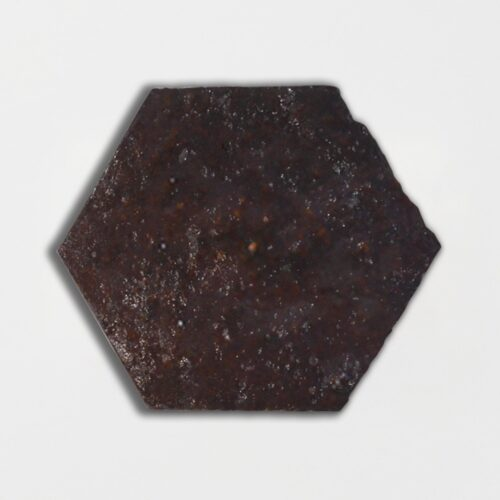 Losada Brown Glazed Hexagon Terracotta Tiles 6×6