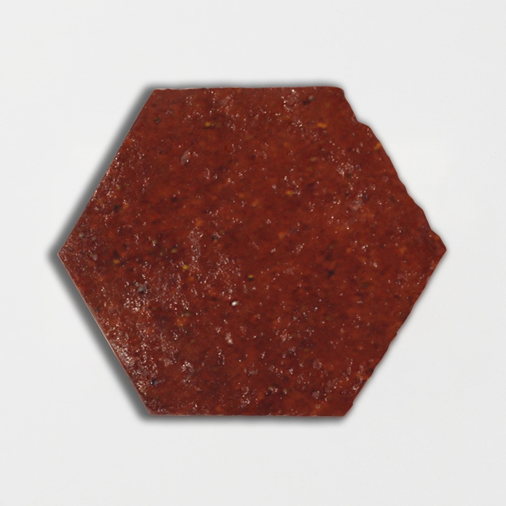 Woody Brown Glazed Hexagon Terracotta Tiles 6x6