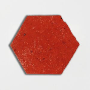 Avante Garde Orange Glazed Hexagon Terracotta Tiles 6x6