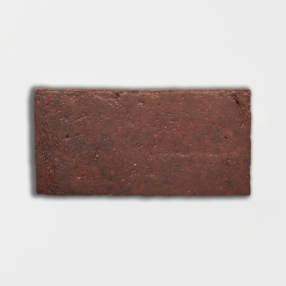 Woody Brown Glazed Rectangle Terracotta Tiles 6x12