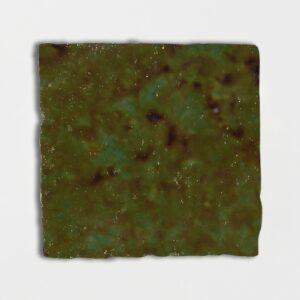 Tefusee Green Glazed Square Terracotta Tiles 6x6