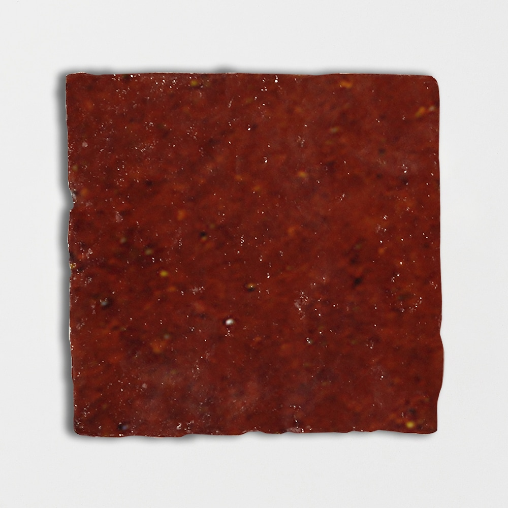 Woody Brown Glazed Square Terracotta Tiles 6x6
