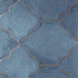 Peggy Blue Glazed Riviera Terracotta Patterns Random