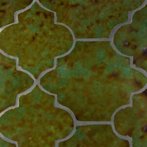 Tefusee Green Glazed Riviera Terracotta Patterns Random