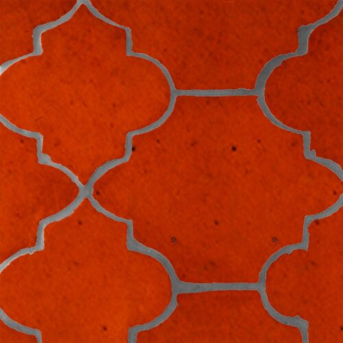 Avante Garde Orange Glazed Riviera Terracotta Patterns Random