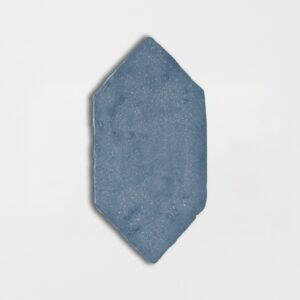Peggy Blue Glazed Picket Terracotta Tiles 5x10