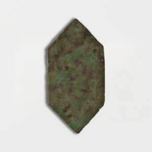 Tefusee Green Glazed Picket Terracotta Tiles 5x10