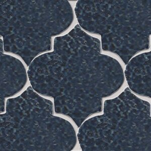 Pickford Blue Glazed Arabesque Terracotta Tiles 9x10