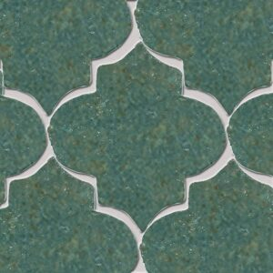 Joy Green Glazed Arabesque Terracotta Tiles 9x10