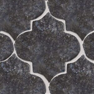 Boho Bronze Glazed Arabesque Terracotta Tiles 9x10