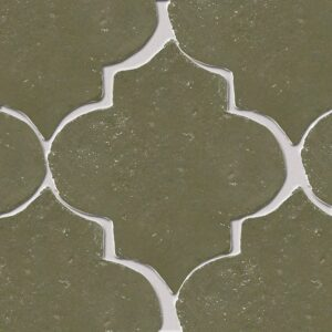American Camo Glazed Arabesque Terracotta Tiles 9x10