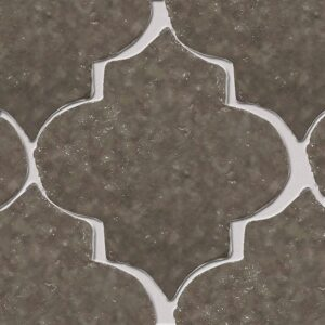 Agora Grey Glazed Arabesque Terracotta Tiles 9x10