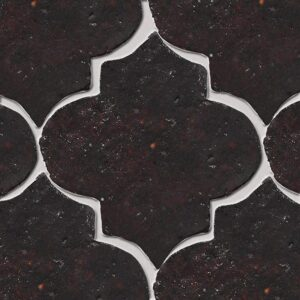 Losada Brown Glazed Arabesque Terracotta Tiles 9x10