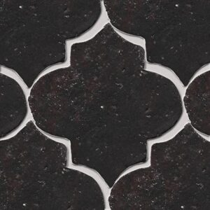 Corso Brown Glazed Arabesque Terracotta Tiles 9x10