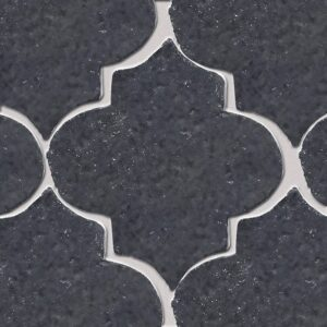 Flat Iron Glazed Arabesque Terracotta Tiles 9x10