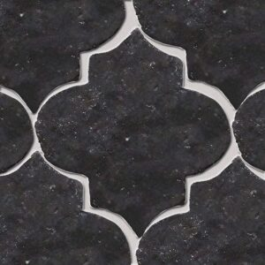 Ginsberg Bronze Glazed Arabesque Terracotta Tiles 9x10