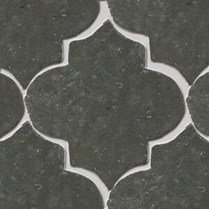 Grey Dog Glazed Arabesque Terracotta Tiles 9x10