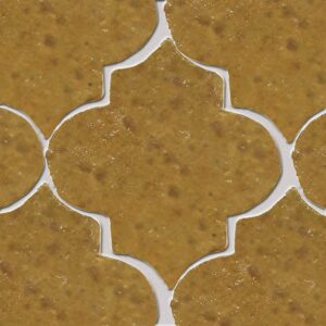 Crompton Brown Glazed Arabesque Terracotta Tiles 9x10
