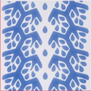 Snow White, Blue Glossy Cecil Stripe Ceramic Tiles 6x6