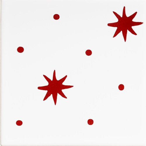 Pure White, Fire Engine Glossy Serendipity Ceramic Tiles 6×6