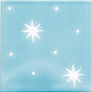 Ocean, Pure White Glossy Serendipity Ceramic Tiles 6x6