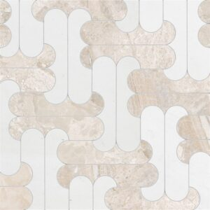 Diana Royal, Aspen White Multi Finish Marble Waterjet Decos 8 7/16x11 1/4