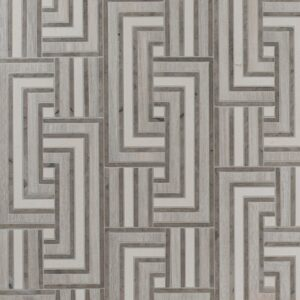 District Multi Finish Link Limestone Mosaics 13 8/16x6 1/2