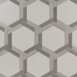 District Multi Finish Hexy Limestone Mosaics 12 1/8x12 1/8