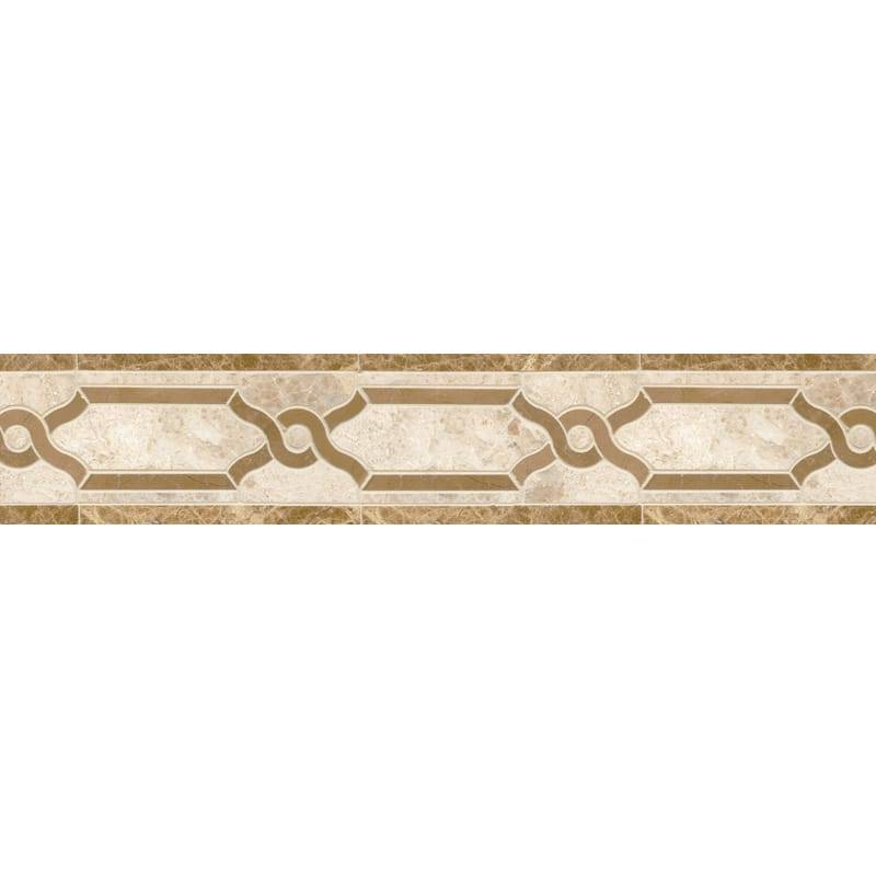 Diana Royal, Paradise, Sable Multi Finish Leo Marble Borders 3 1/2x11 7/16