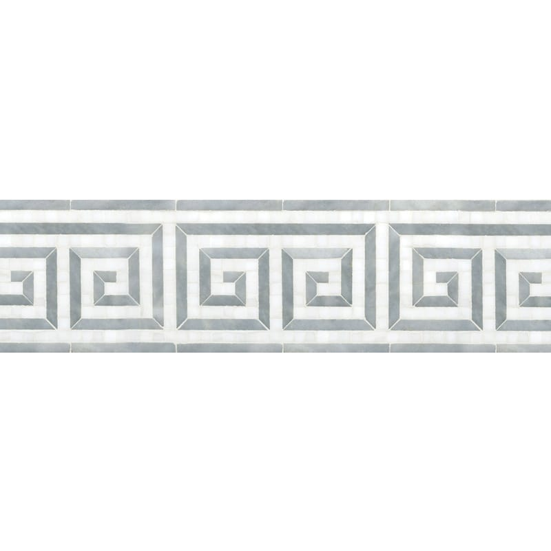 Afyon Gray, Dolomite Multi Finish Justinian Marble Borders 5x12 1/6