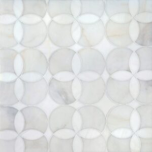 Afyon White, Dolomite Multi Finish Constantine Marble Waterjet Decos 13 5/8x13 5/8
