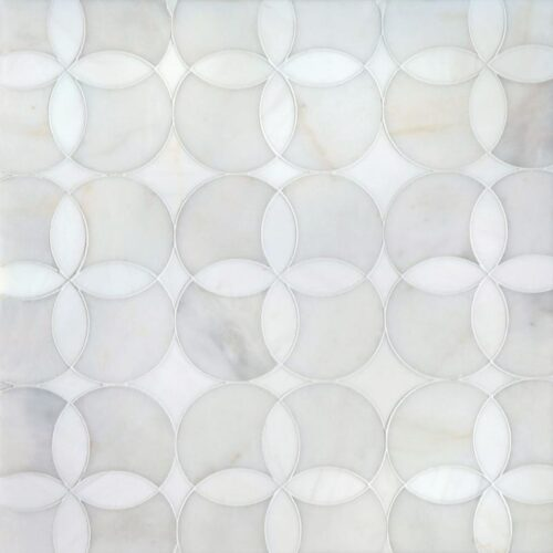 Afyon White, Dolomite Multi Finish Constantine Marble Waterjet Decos 13 5/8×13 5/8