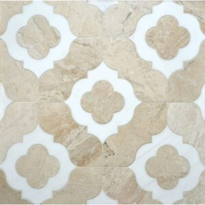 Diana Royal, Dolomite Multi Finish Irene Limestone Waterjet Decos 11 3/8x11 3/8