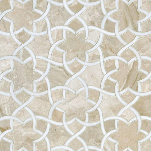 Diana Royal, Dolomite Honed Isidore Marble Wall Decos 12 1/2x 14 3/8