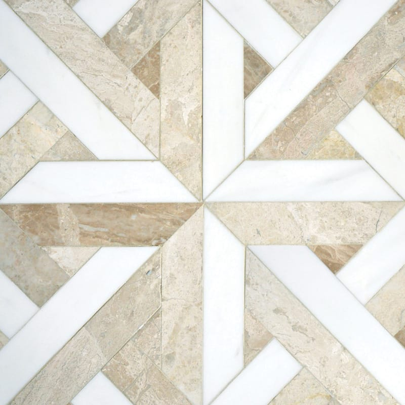 Diana Royal, Dolomite Multi Finish Rubicon Marble Mosaics 17x17