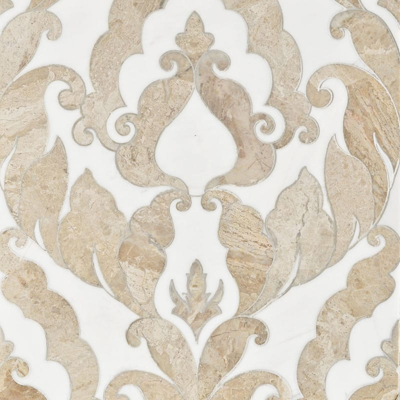 Diana Royal, Dolomite Multi Finish Rumi Marble Mosaics 13 9/16x18
