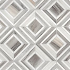 Avenza Light, Dolomite Multi Finish Yildiz Marble Mosaics 8 13/16x11