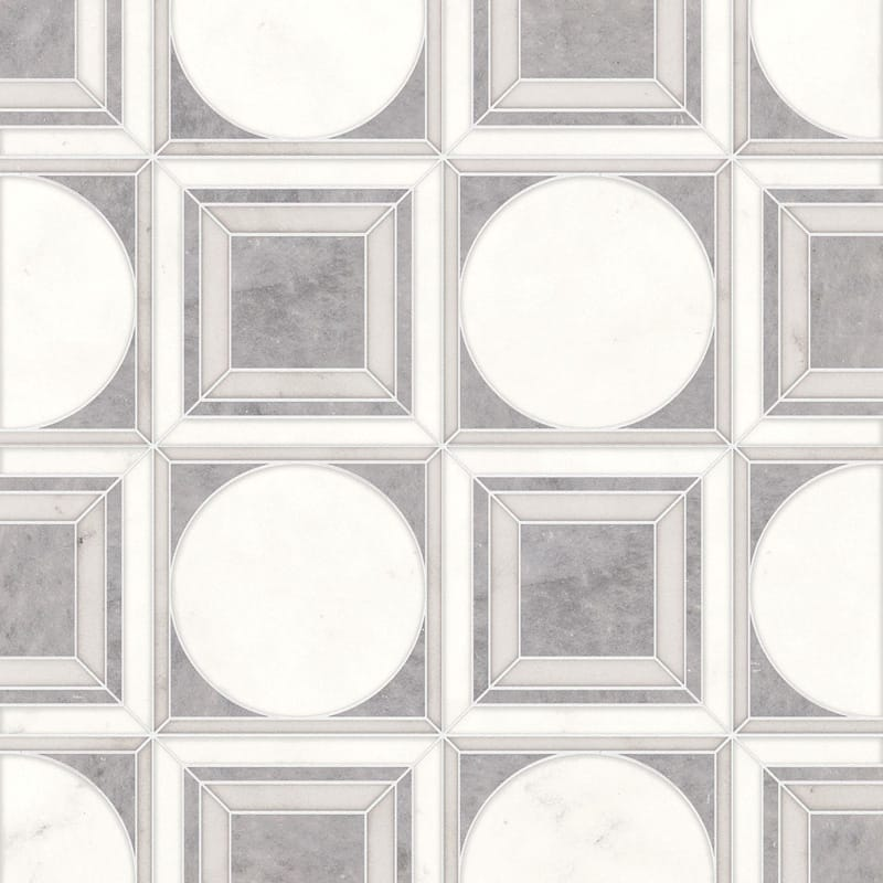 Afyon Gray, Afyon White, Dolomite Multi Finish Cicero Marble Mosaics 12x12