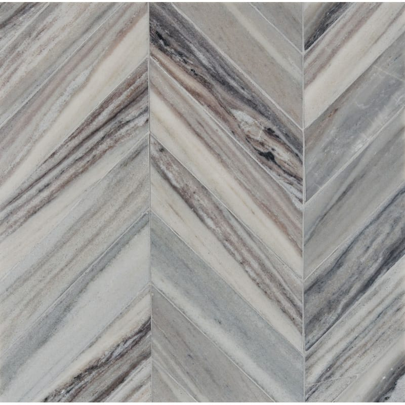 Palisandra Vein Cut Multi Finish Bosphorus Marble Mosaics 13 7/16x 13 7/16
