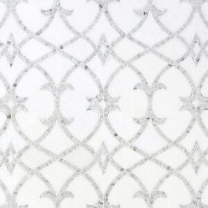 Thassos, Statuarietto Multi Finish Avila Marble Mosaics 8 5/8x10 1/16