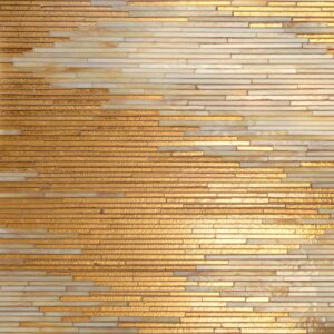 24k Gold, Agate Quartz, Jewel Glossy Reve Glass Mosaics Custom
