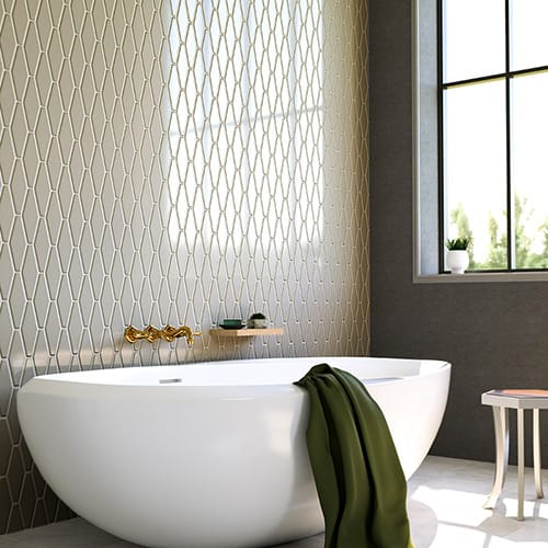 LATTE GLOSSY LONGEST HEXAGON CERAMIC TILES (DC00206)