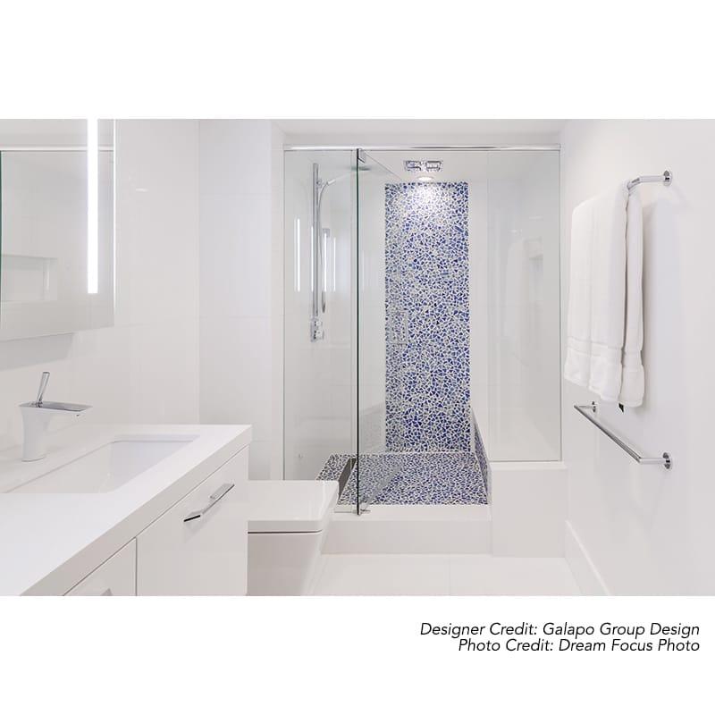 Azzurro Glossy Gloss Glass Mosaics 12x12