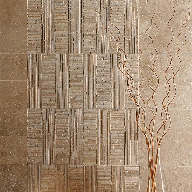 Ivory Light Honed Filled Travertine Tiles 18x18: Walnut Dark Honed&filled Travertine Tiles 12x12